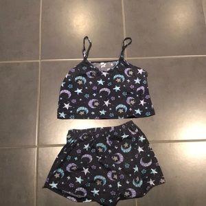 Shein two piece pyjama set